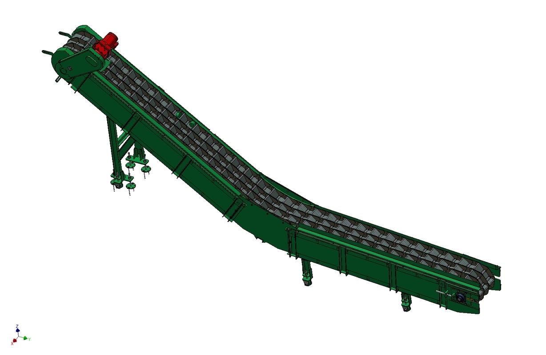 504 Reťazovo-pásový dopravník